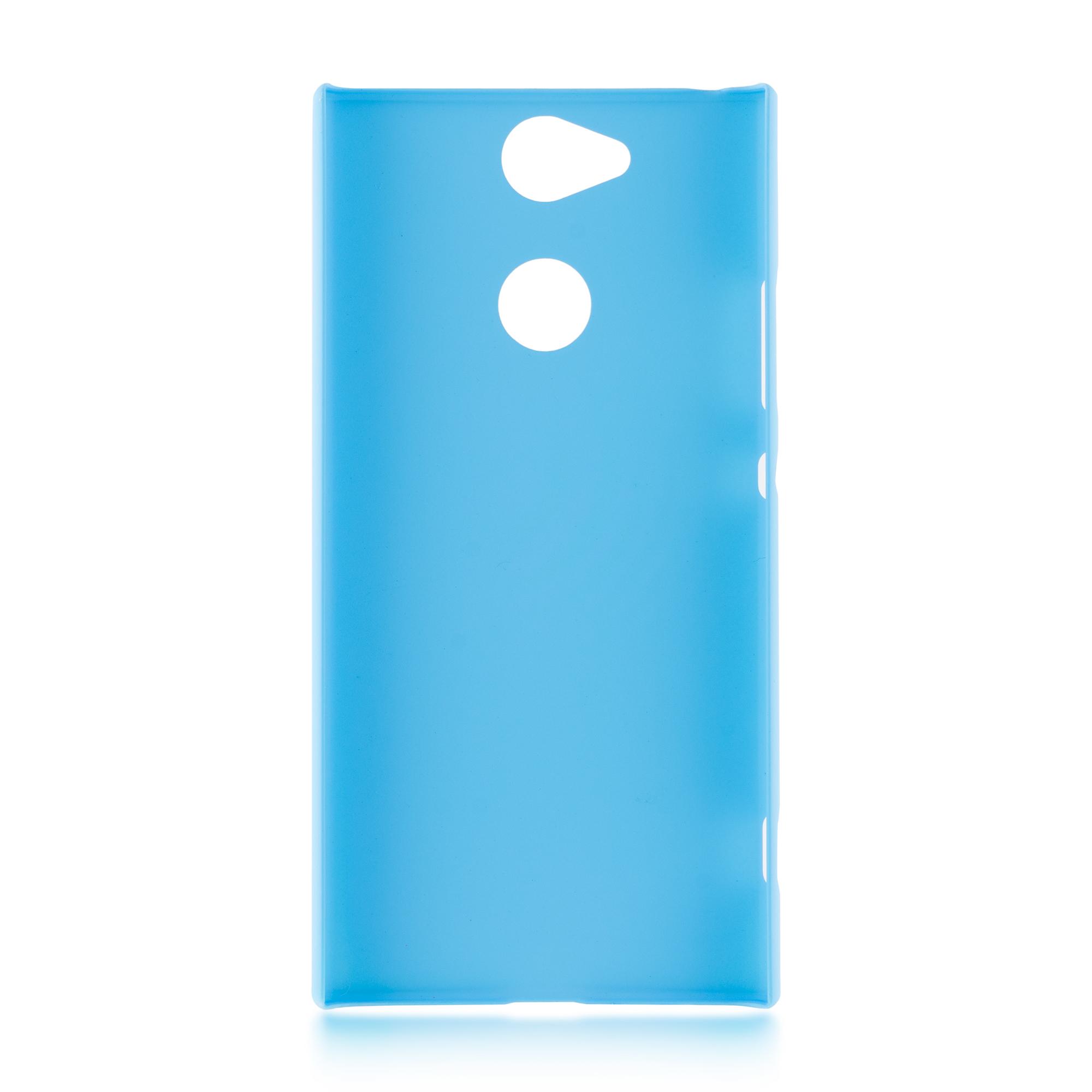Пластиковый бампер для Xperia XA2 синего цвета