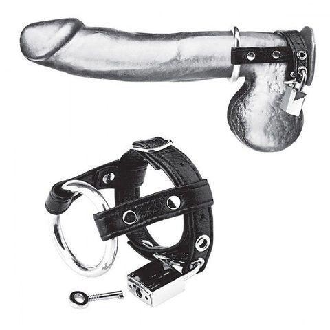 Утяжка на пенис на замочке Duo Cock And Ball Lock