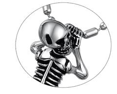 Мужская подвеска из стали HangingSkeleton с цепочкой mn00699