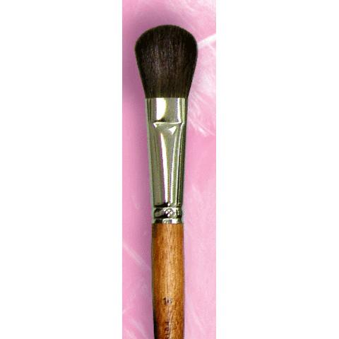 Кисть для румян №14 экономичная / ворс пони / ручка цвета махагон / М-Р01930014