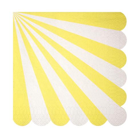 Салфетки в желтую полоску, бол.