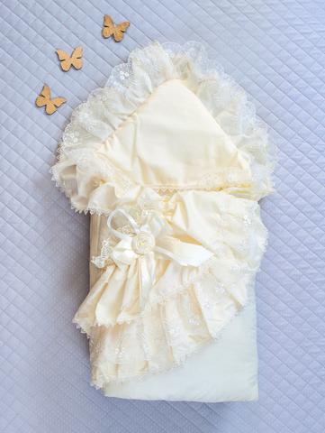 Зимний конверт-одеяло Красотка айвори