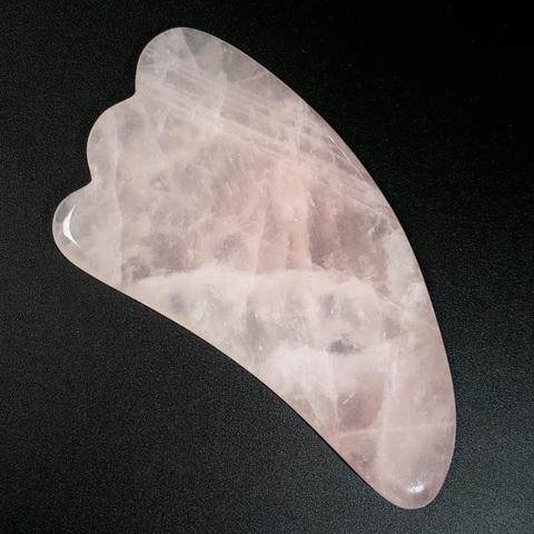 Скребок для массажа Гуаша в форме лапки из розового кварца