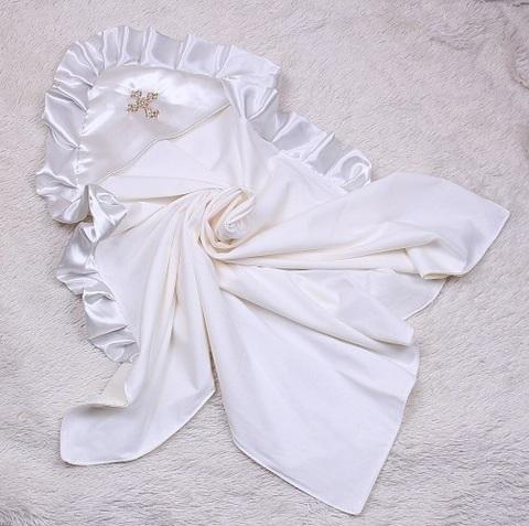 Крыжма для крещения Богородица айвори