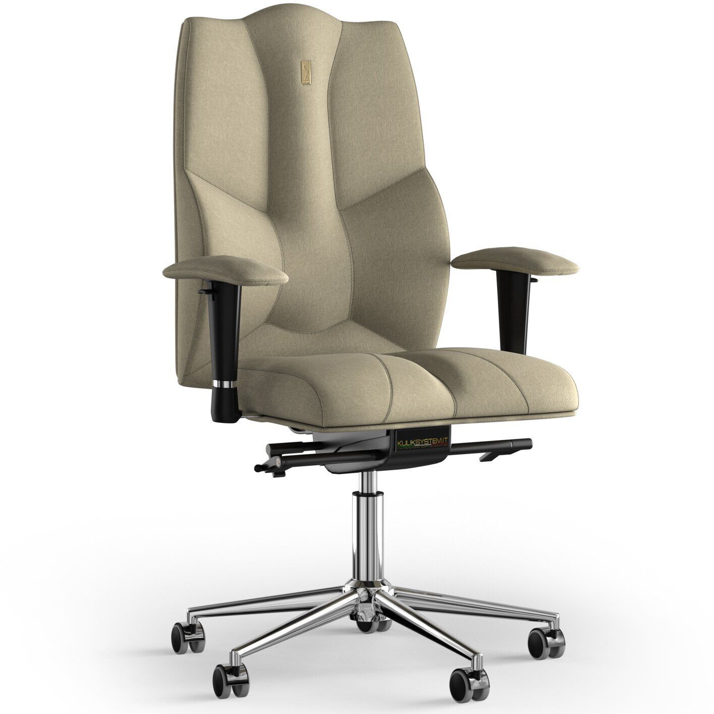 Кресло KULIK SYSTEM BUSINESS Ткань без подголовника без строчки