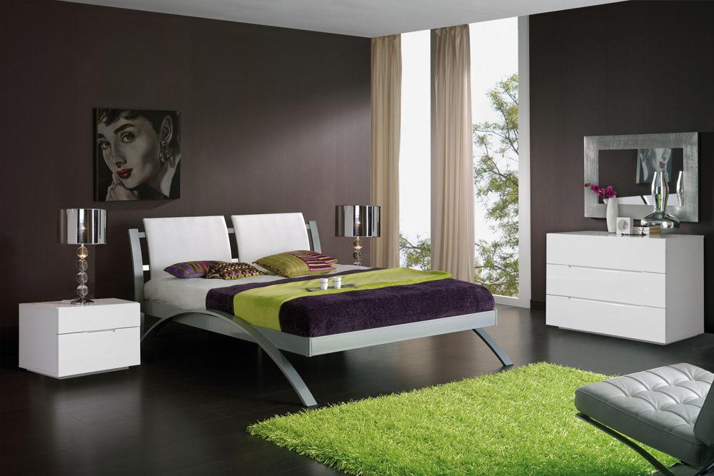 Кровать DUPEN 390 Nina, тумбочка DUPEN M-100, Комод DUPEN M-100, зеркало DUPEN E-96