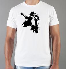 Футболка с принтом Майкл Джексон (Michael Jackson) белая 005