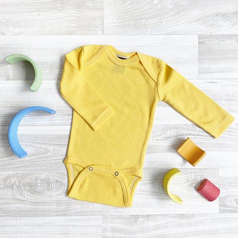 Боди Mjölk Minion Yellow с длинным рукавом