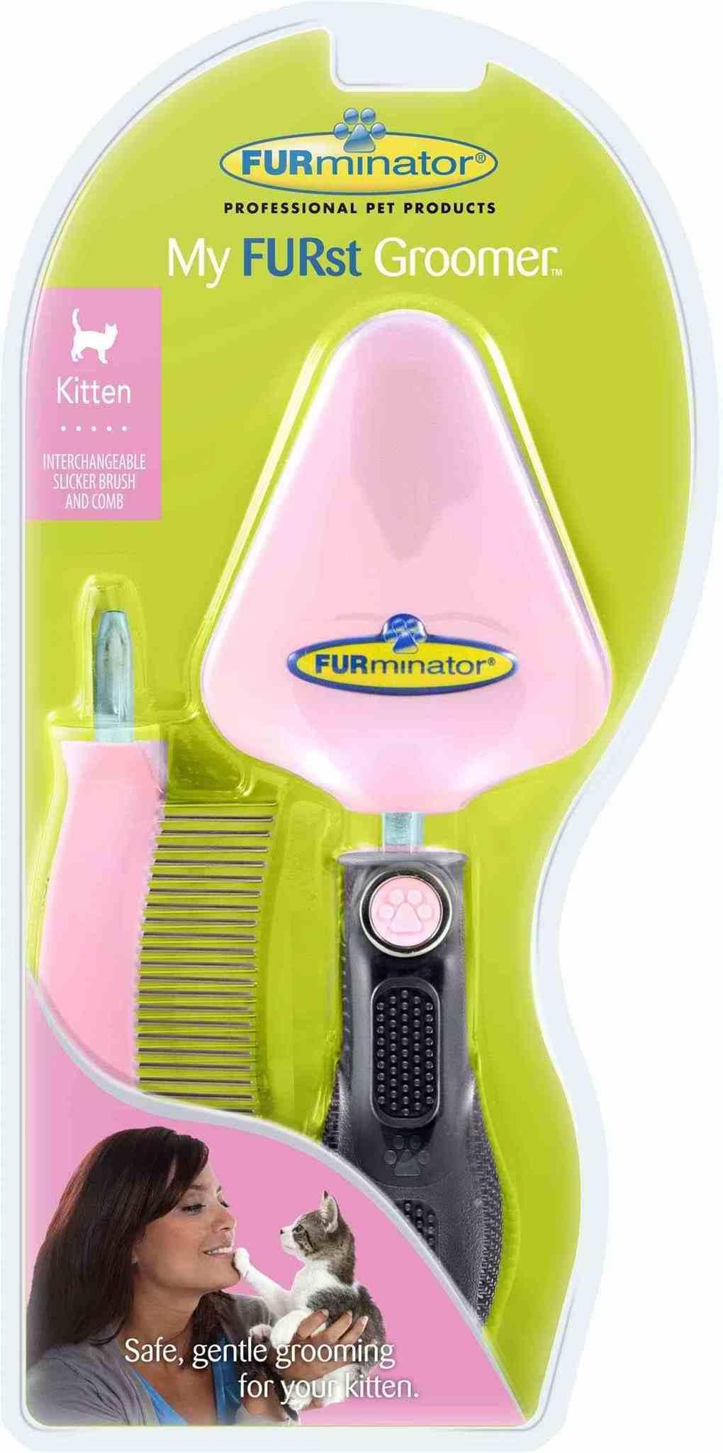 """Furminator FURminator для котенка набор """"Мой первый грумер"""" сликер+расческа My FURst Groomer 3dae08af-3cfd-11e0-1287-001517e97967.jpg"""