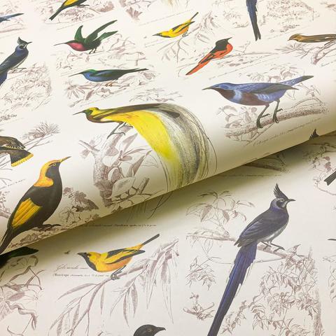 Бумага подарочная декоративная Яркие птицы