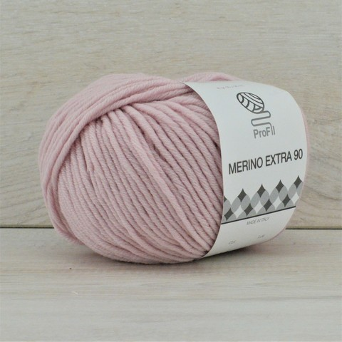 Пряжа Merino Extra 90 (Мерино экстра 90) Пепельно-розовый