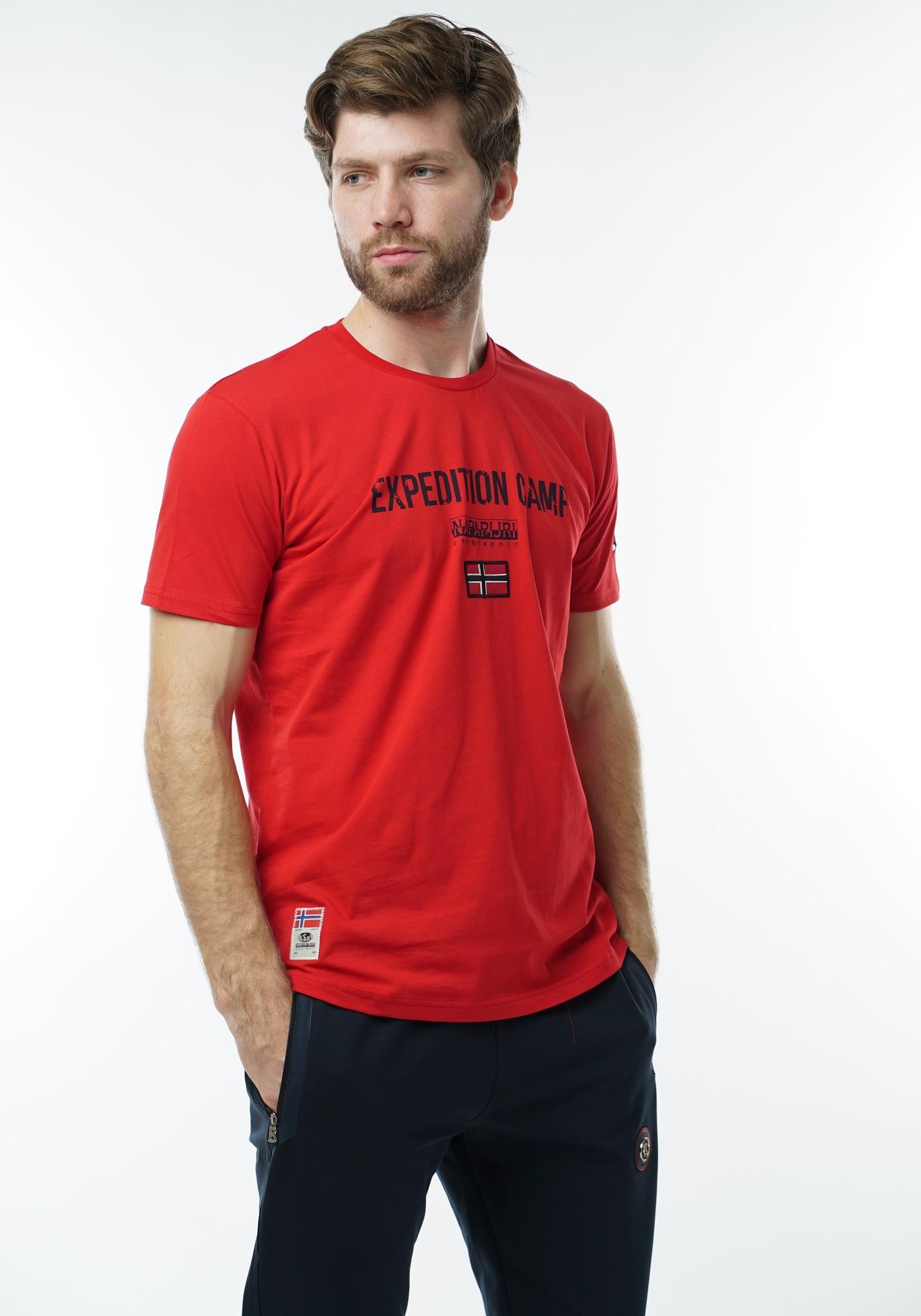 "Мужские футболки Футболка ""Napapijri"" 1040 red DSC05961.JPG"