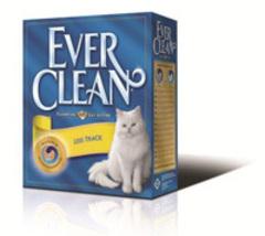 EVER CLEAN Less Track Наполнитель для кошачьего туалета (оранжевая полоса) для длинношерстных