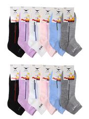 NO5011 носки женские, цветные 37-41 (12шт)