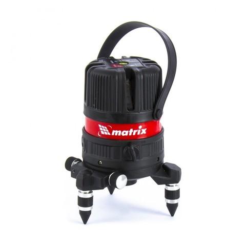 Уровень лазерный ML04P, 10м, ±0,3мм/1м, 635нм, 4 верт. 1 гор. пл, пыле-влаго. защ. корпус Matrix
