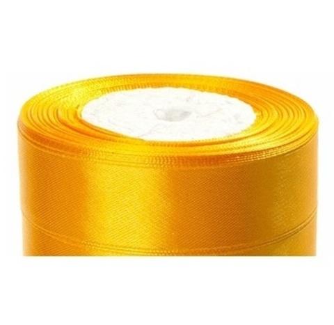 Лента атласная (размер:25мм х 25 ярдов) Цвет:темно-желтый