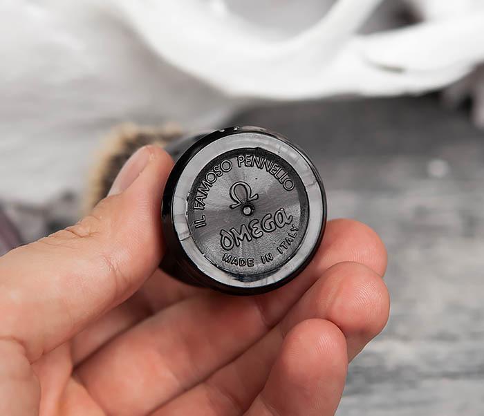 RAZ11574 Итальянский помазок Omega из щетины кабана фото 04