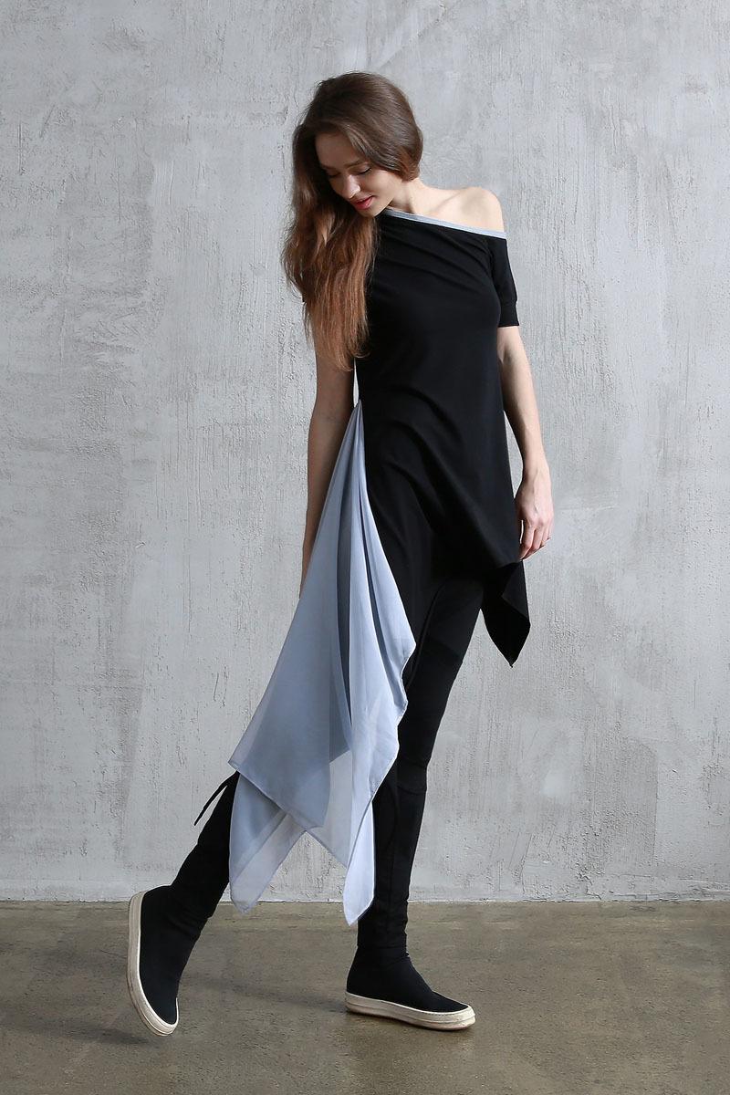Платье «Aurora Black Gray»