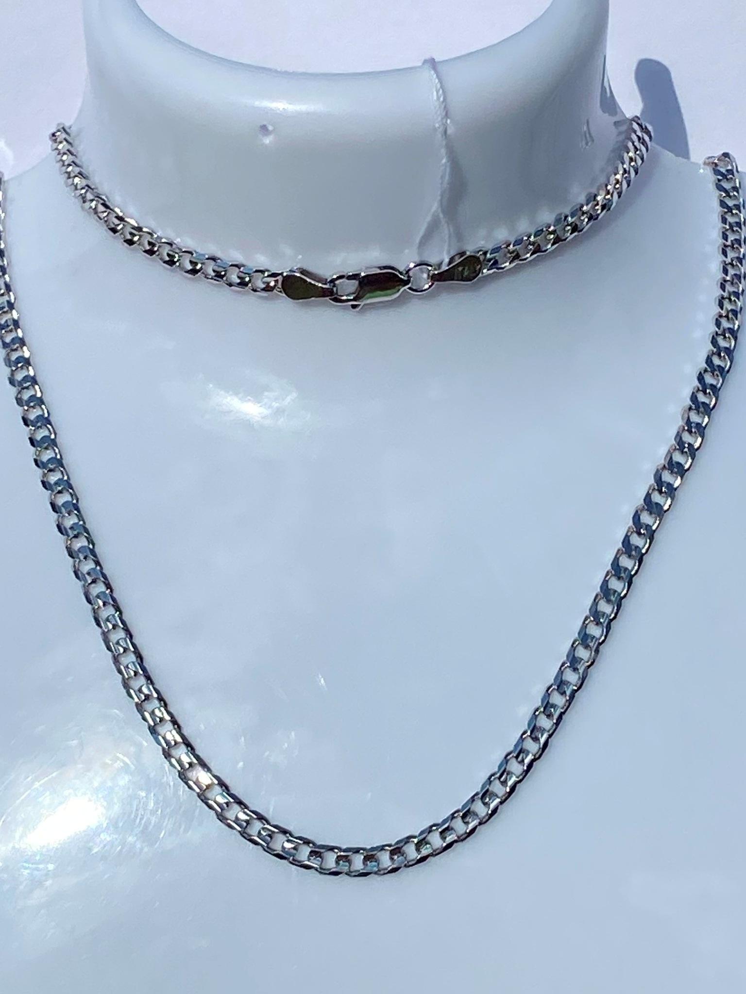 Панцирная  (серебряная цепочка)