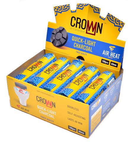 Уголь для кальяна Crown of Carbopol 40 мм