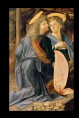 """Репродукция """"Леонардо Да Винчи - Два юных ангела """""""