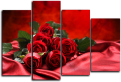 """Модульная картина """"Кровавые розы"""""""
