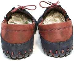 Летние мокасины мужские кожаные Luciano Bellini 23406-00 LNBN.