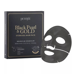 Petitfee Black Pearl & Gold Hydrogel Mask Pack - Маска для лица гидрогелевая