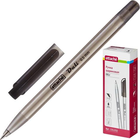 Ручка шариковая Attache Deli черная (толщина линии 0.5 мм)
