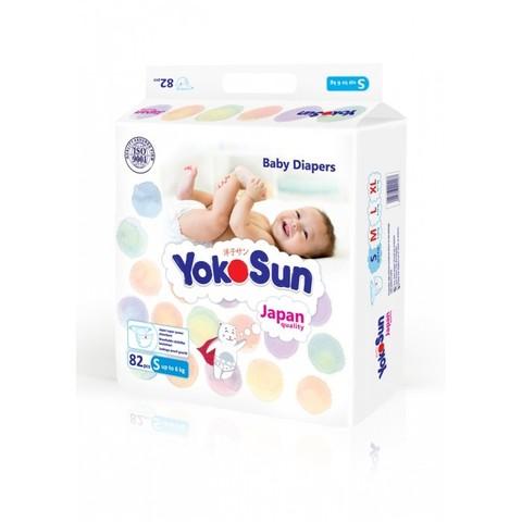 YokoSun Подгузники детские S (до 6 кг) 82 шт