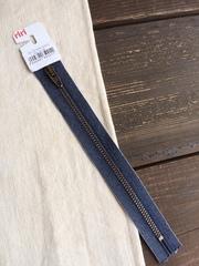 Молния джинсовая №4, Riri, 18см, синий джинс