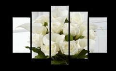 """Модульная картина """"""""Букет белых роз"""""""""""