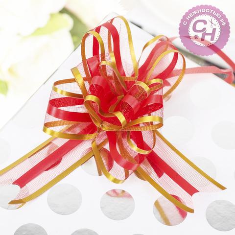 Бант для подарка с органзой двухцветный, 1 шт.