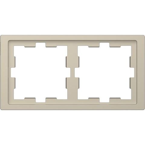 Рамка на 2 поста. Цвет Сахара. Merten. D-Life System Design. MTN4020-6533