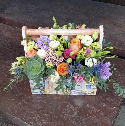 Ящик с цветами Живой 2