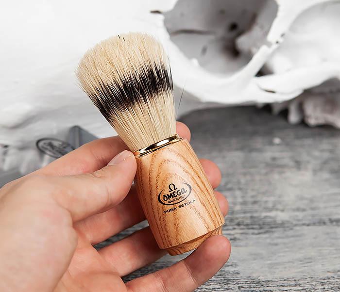 RAZ11150 Помазок из щетины кабана с деревянной ручкой фото 04