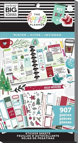 Блокнот со стикерами для ежедневника -Happy Planner Sticker Value Pack Winter - 907 шт