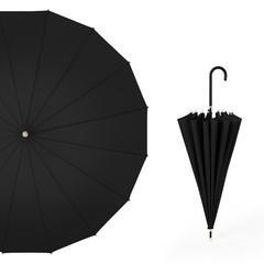 Японский зонт трость 16 спиц AKSISUR черный