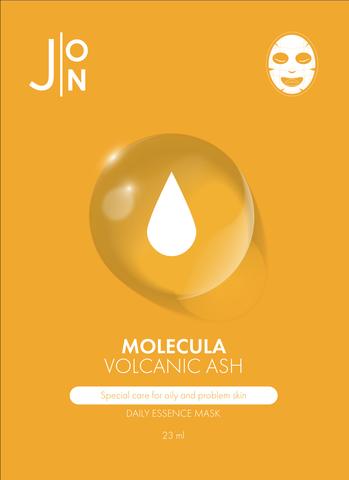 Тканевая маска для лица с вулканическим пеплом для проблемной кожи Molecula Volcanic Daily Essence Mask
