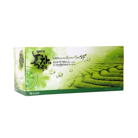Салфетки для лица с экстрактом зеленого чая Monalisa Bellagio Green Tea 210 шт