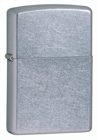 Зажигалка Zippo с покрытием Street Chrome, латунь/сталь, серебристая, матовая, 36x12x56 мм123