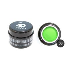 TNL, 4D Гель для дизайна ногтей № 08, неоново-зелёный, 8 мл