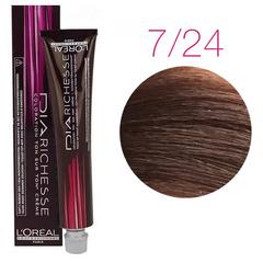 L'Oreal Professionnel Dia Richesse 7.24 (Медовый перламутровый) - Краска для волос