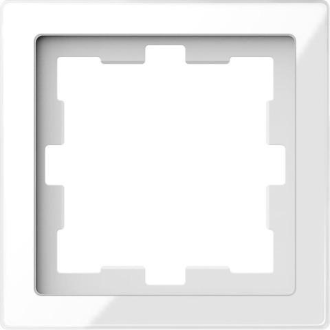 Рамка на 1 пост. Цвет Белый кристалл. Merten. D-Life System Design. MTN4010-6520