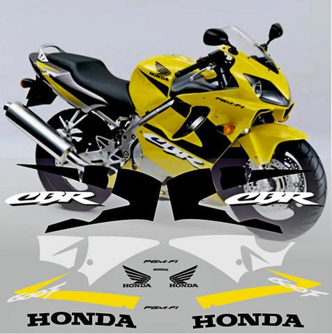 Набор виниловых наклеек на мотоцикл HONDA CBR 600 F 2001