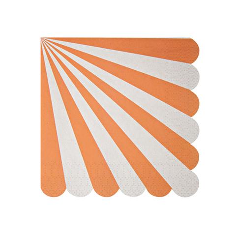 Салфетки в оранжевую полоску, маленькие