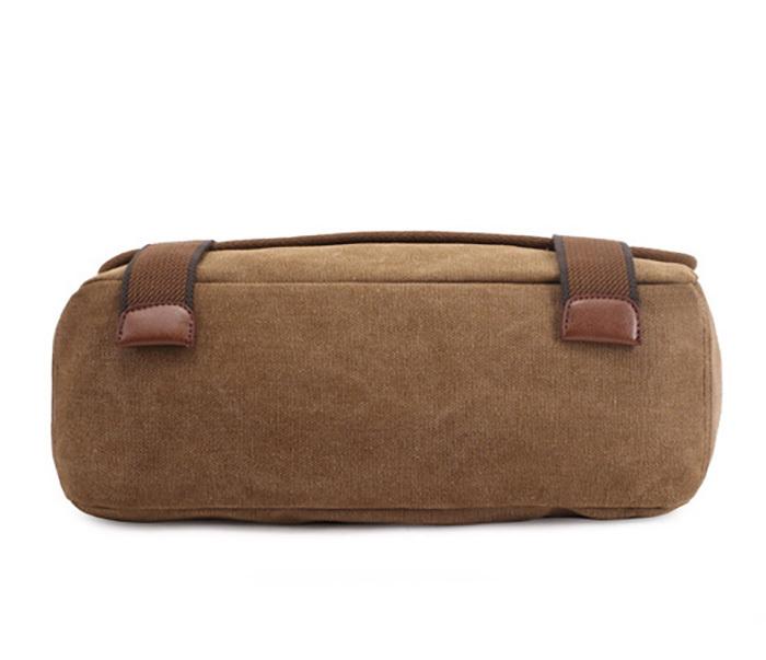 BAG390-2 Удобный мужской портфель из ткани цвета хаки с ремнем на плечо (вмещает А4) фото 05