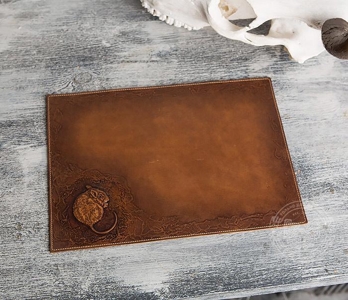 Оригинальный коврик для мыши из натуральной кожи