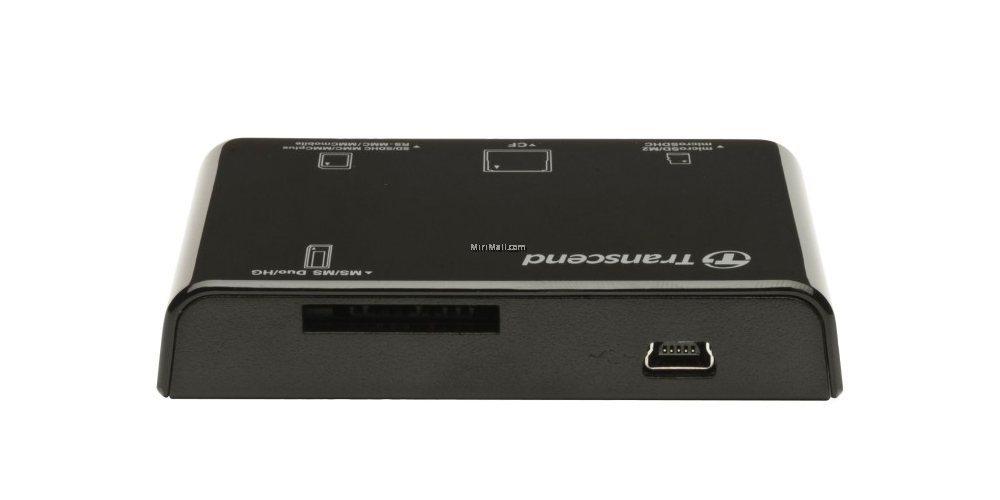 Устройство чтения/записи флеш карт Transcend RDC8, all-in-1, USB 3.1 вид сзади
