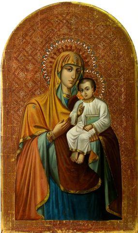 Икона Божией Матери Песчанская на дереве на левкасе мастерская Иконный Дом